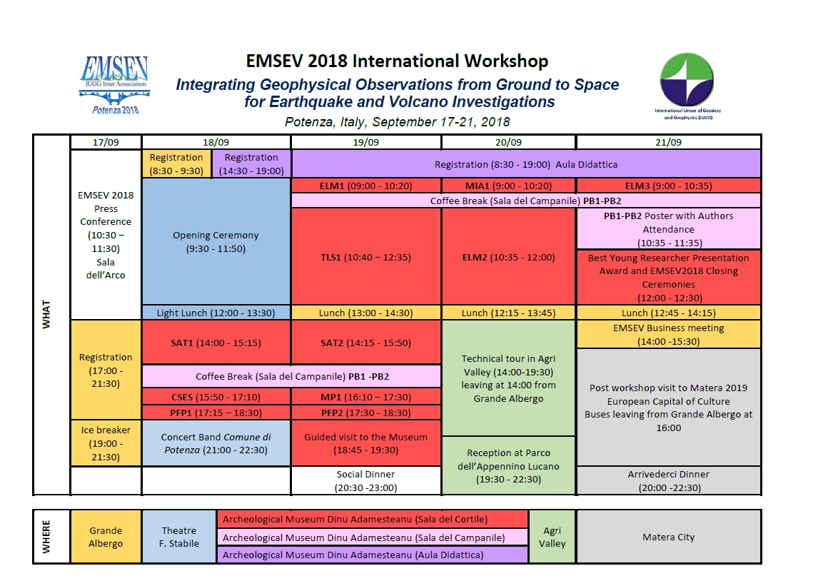 EMSEV2018 Final Program Table
