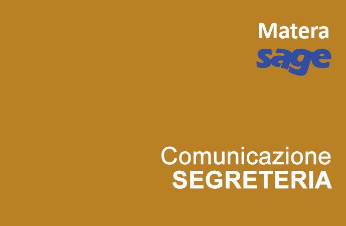 Trasferimento lezioni a Matera / Collegamento Skype con Foggia