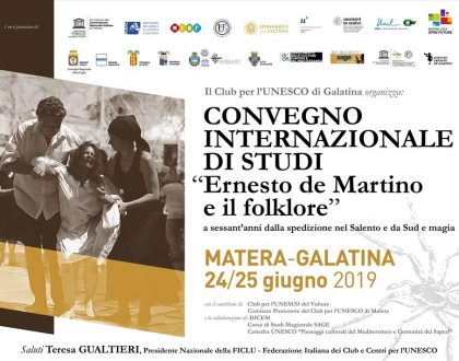 """Convegno di studi """"Ernesto de Martino e il Folklore"""""""